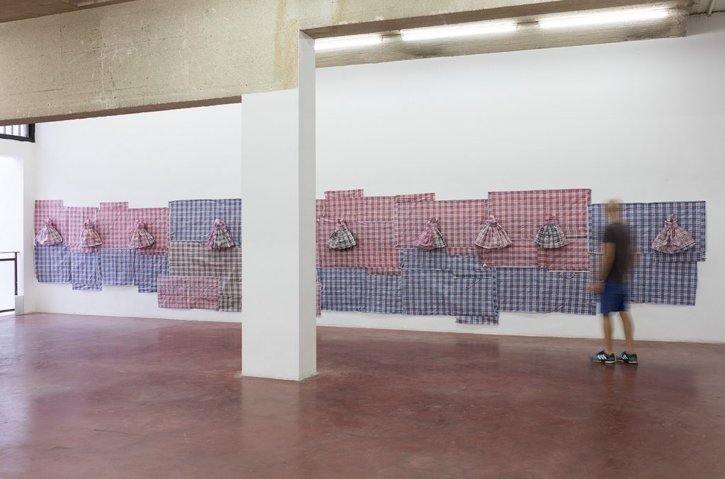 Etti Abergel, Early days, 2018, mixed media, variable dimensions, unique, exhibition view, Dvir Gallery, Tel Aviv