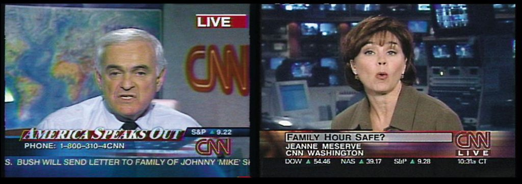 Omer Fast, CNN Concatenated, 2002, single channel video, colour, sound (English), 18 : 00 min, looped, edition of 5 + 1AP