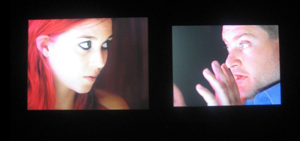 Omer Fast, The Casting, 2007, 4 channel video projection, 35 mm film transferred to video, sound 14 : 00 min, edition 6 + 2 AP, exhibition view