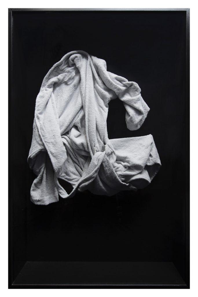 Sarah Ortmeyer, VALIUM VALENTINE I - VI, (detail), 2016, wood, metal, dyed cotton, 90 x 140 x 17 cm (each), unique