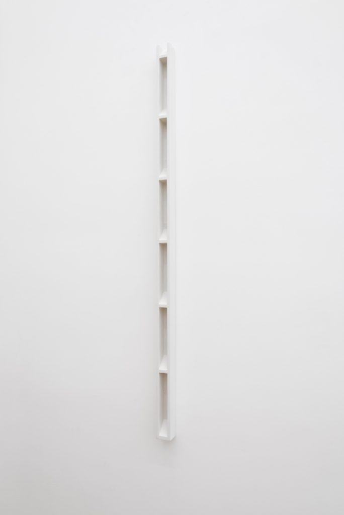 Florian Pumhösl, Plaster Object #3 (Formed speech), 2016, sealer on plaster, 159 x 6 x 6 cm, unique