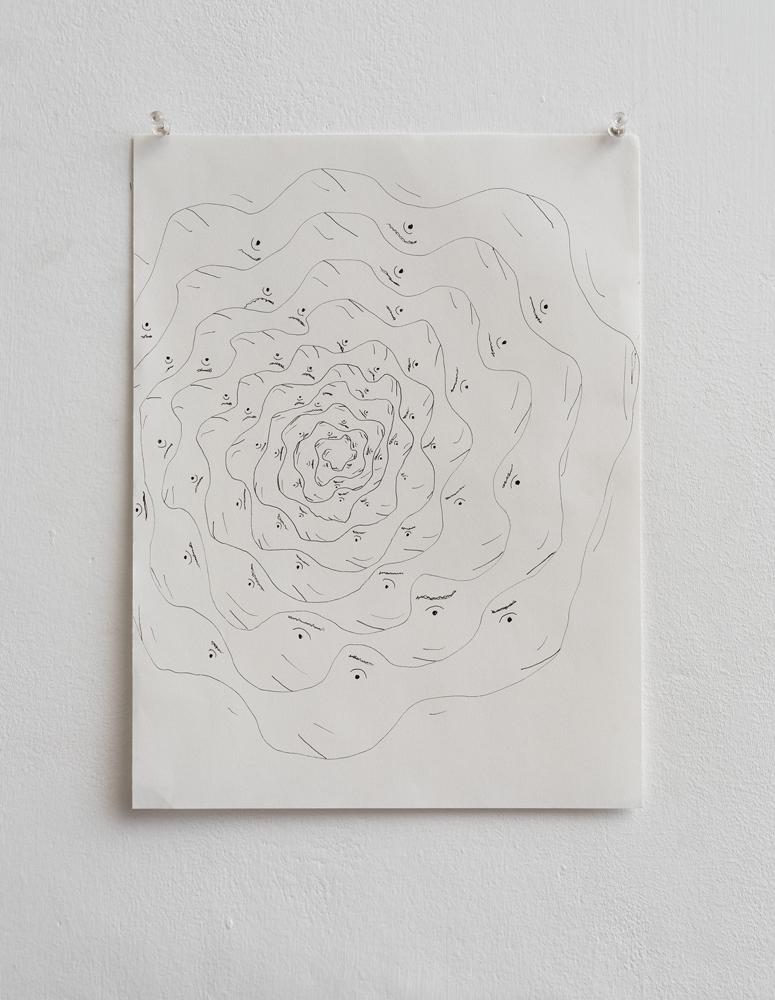 Shai-Lee Horodi, Untitled, 2019, Pen on Paper, 30,5 x 23 cm, Unique