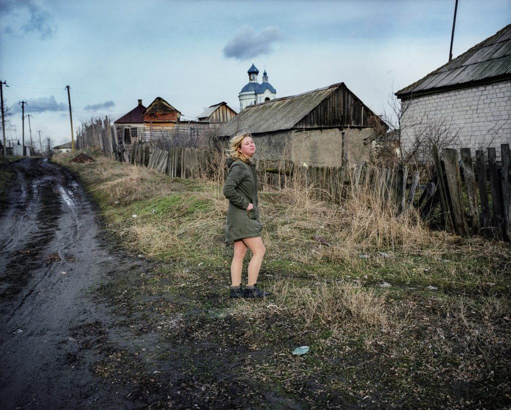 Pavel Wolberg, Katerina, Starey Aidar , East Ukraine, 2017, 160 x 130 cm, inject print color film photo