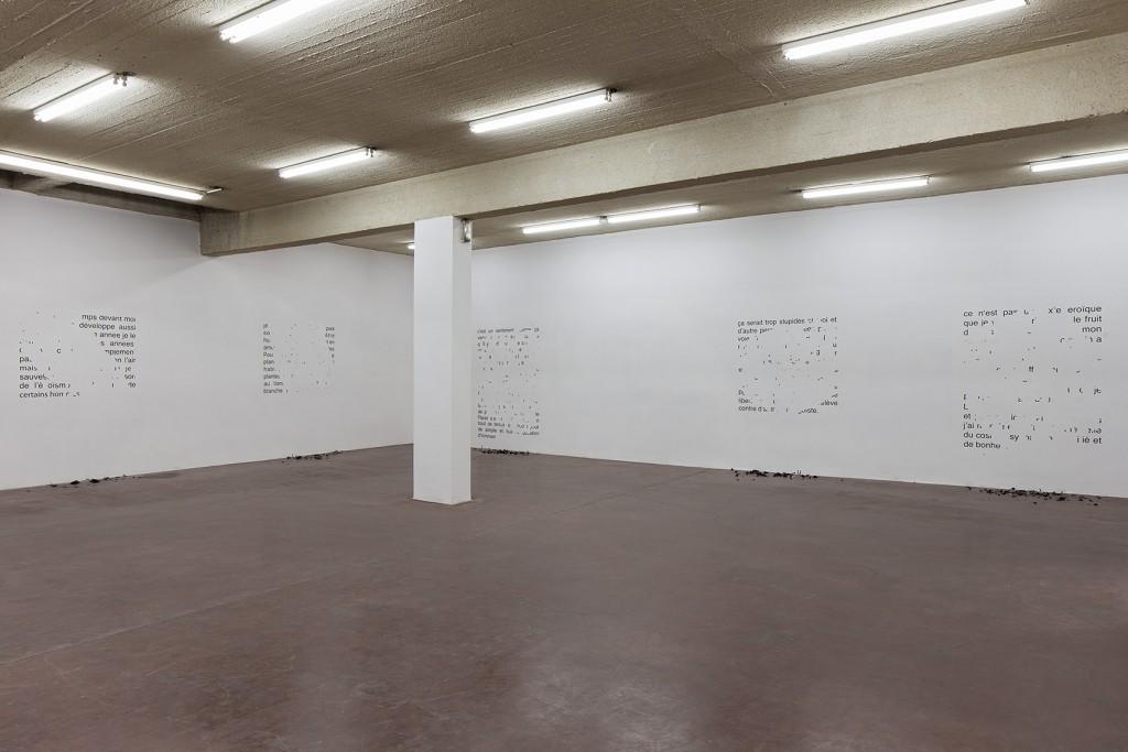 Latifa Echakhch, Hadash, 2014, exhibition view, Dvir Gallery, Tel Aviv