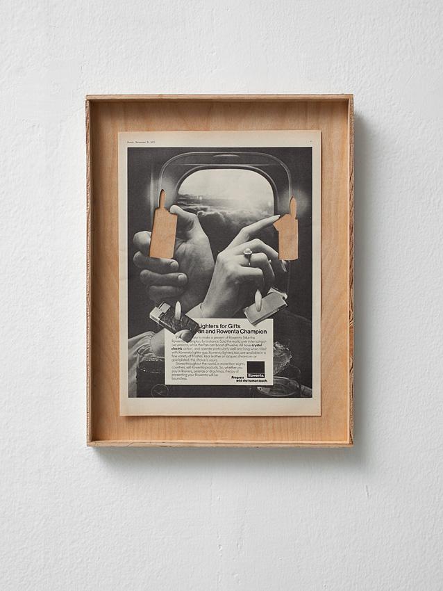 Ariel Schlesinger, Ad, 2012, collage, 24 x 28 cm, unique