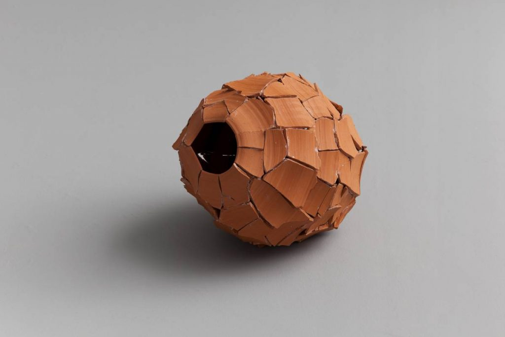 Ariel Schlesinger, Untitled (Inside Out Urn), Earthenware terra-cotta, 34 x 33 x 28 cm, unique