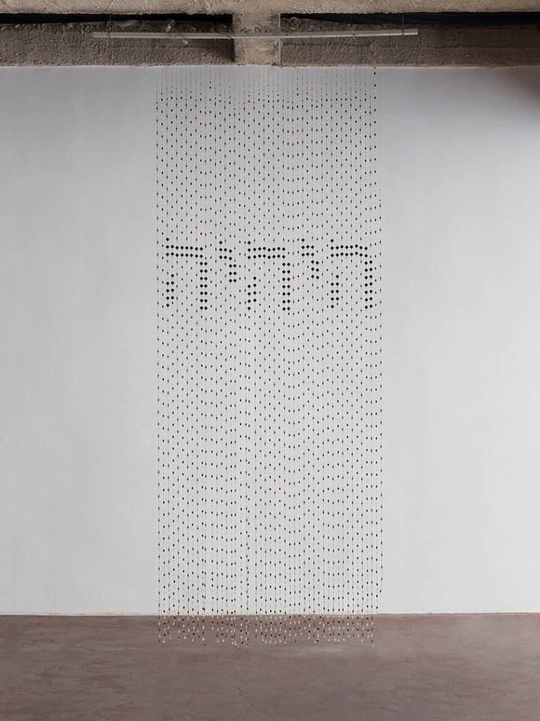 Eli Petel, Could it be, 2008, beads and fishing line, 400 x 230 cm, unique