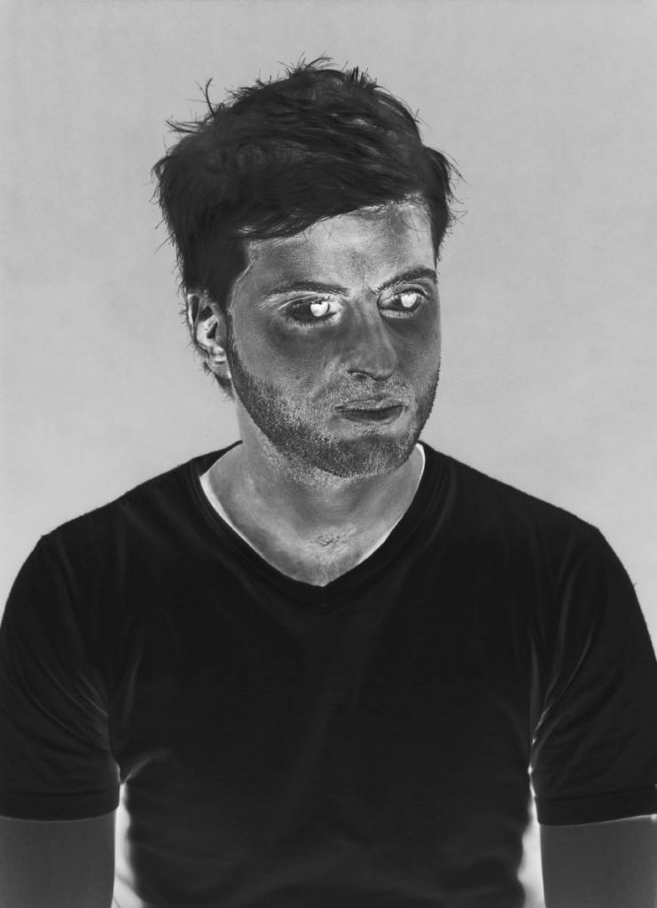 Eli Petel, Negative Portrait, 2002, negative print, 98 x 71 cm