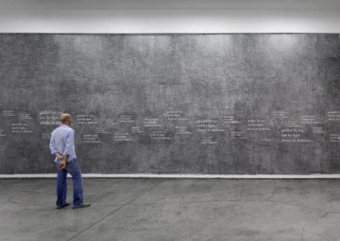 Douglas Gordon, '33 degrees of enlightenment', 2012, text, pencil