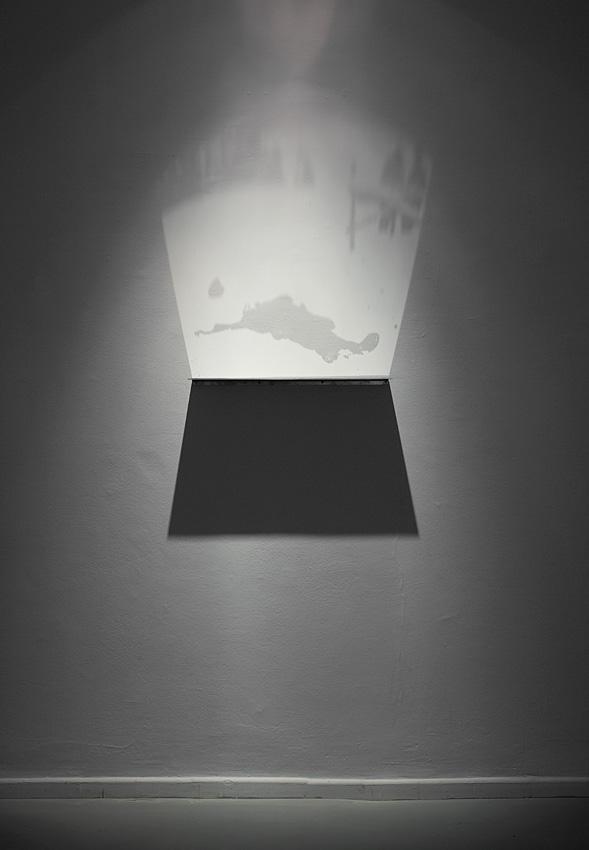 Miri Segal, Light Falling, 2012, Perspex mirror, digital print, spotlight, 20x70 cm, edition of 6