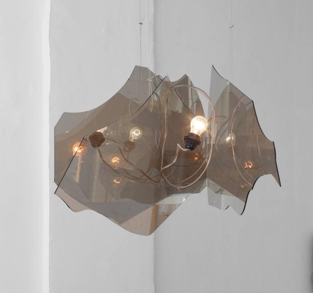 Miri Segal, Shining, 2012, glass, broken light bulb, iron, unique