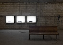 Dor Guez, Untitled (Ajami Beach), 2011, triptych, print on Duratrans, 100x120 cm each, edition of 3