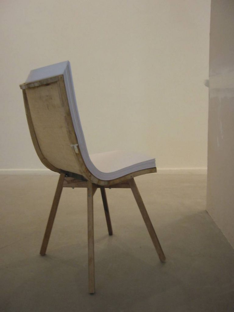 Ariel Schlesinger, Untitled, back view (chair), 2005
