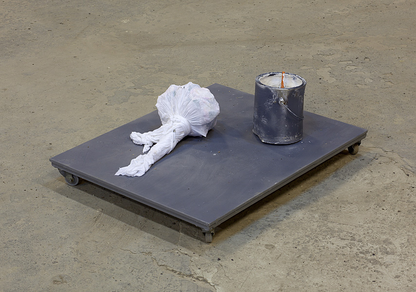Etti Abergel, Untitled, 2003, metal, readymade, plaster and tricot
