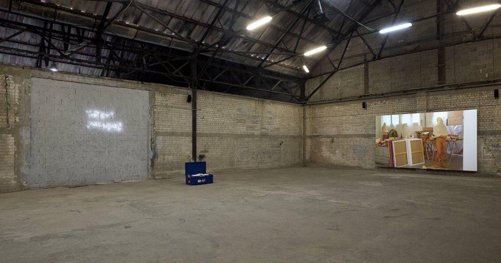 Adel Abdessemed, NU, 2011, Exhibition view