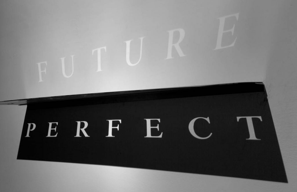 Miri Segal, Future Perfect, 2010, Perspex mirror, laser cutting and digital print, 35x100x26 cm, Unique