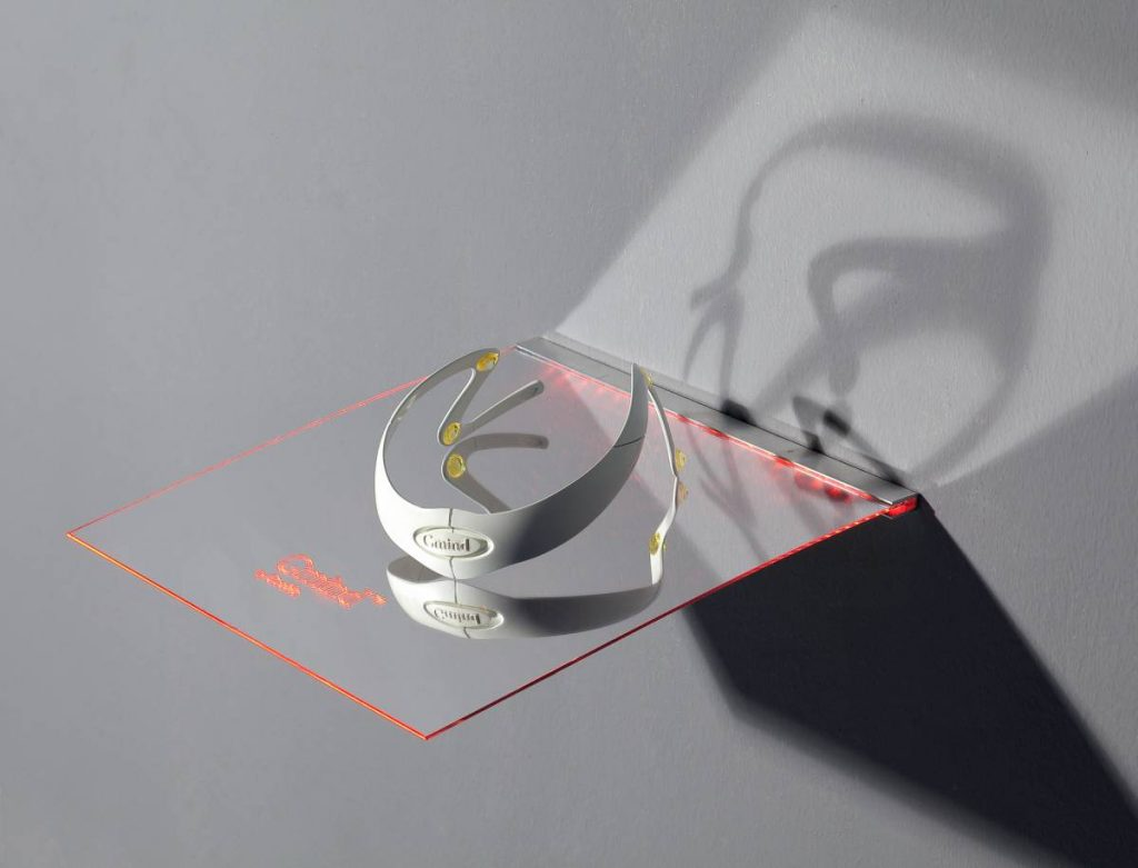 Miri Segal, Gmind Product, 2010, 3-D print on ABS, Perspex shelf, Led lighting, 8x14x20 cm, edition of 5 + 2 AP