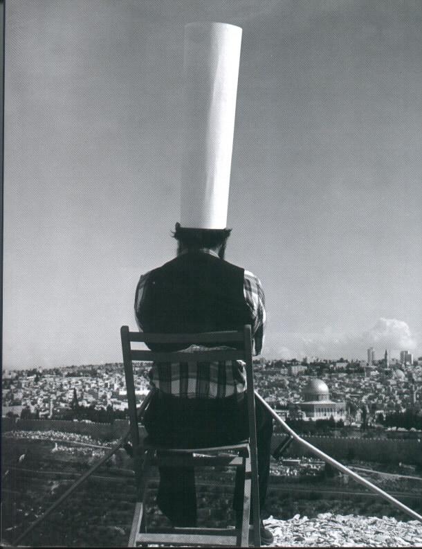 Motti Mizrahi, King of Jerusalem,1973, black and white photo, a copy 1/6, 102X120 cm