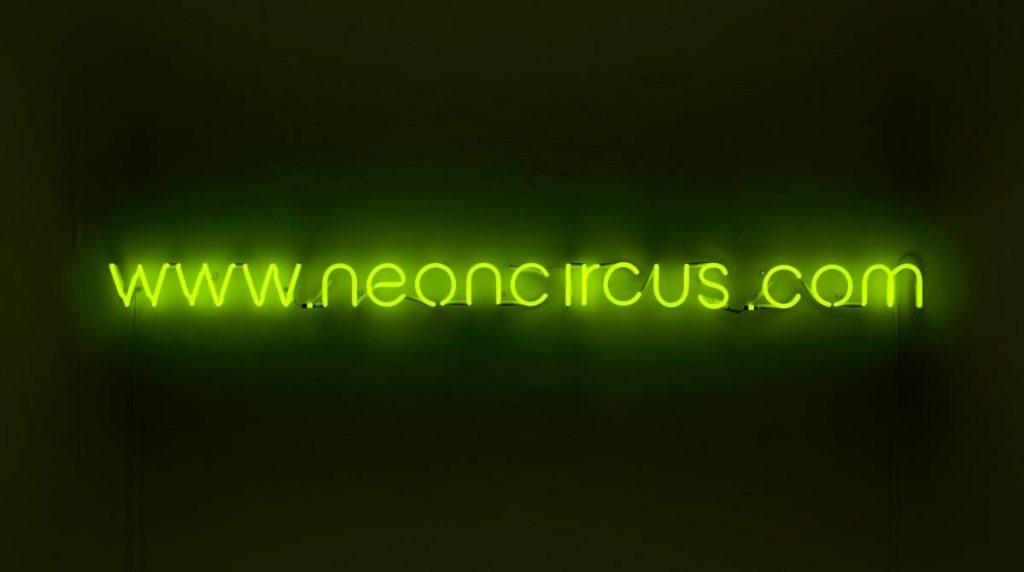 Jonathan Monk, Pre-Birth Communication (London), 2011, neon light installation, 11 x 202 cm