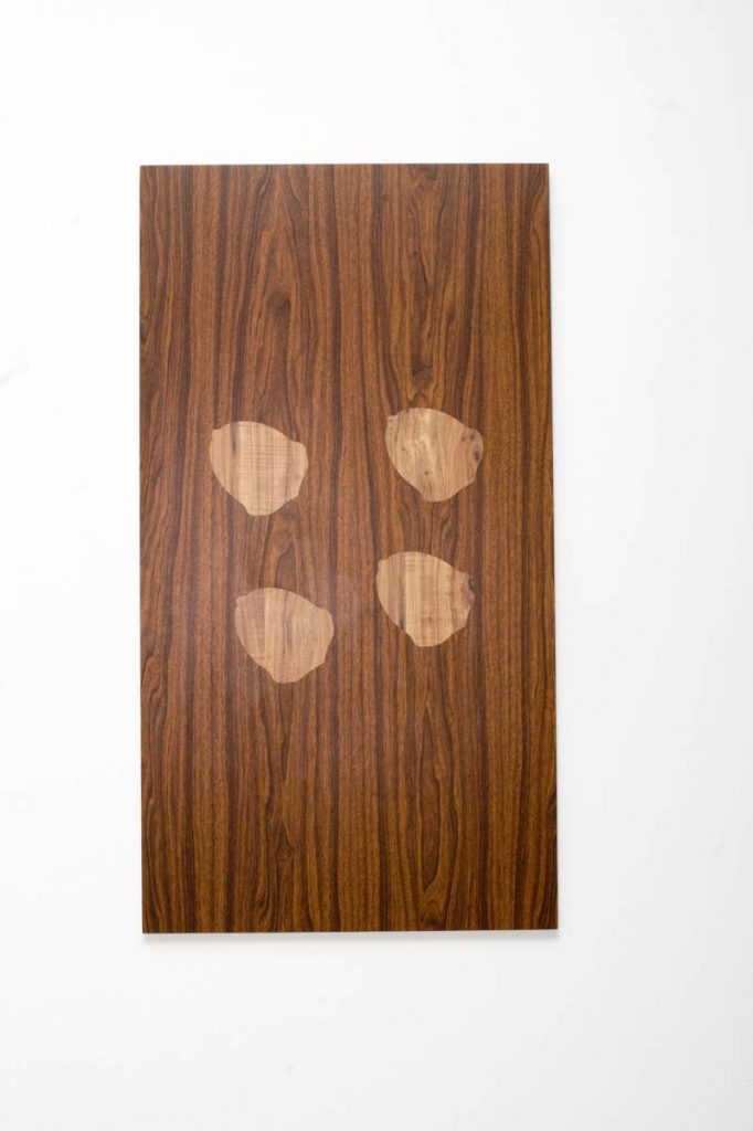 Barak Ravitz, Two from Chardal (mustard) Formation, Four from Egoz (Nut) Formation, 2008, formica, wood, 112 x 60 cm, unique