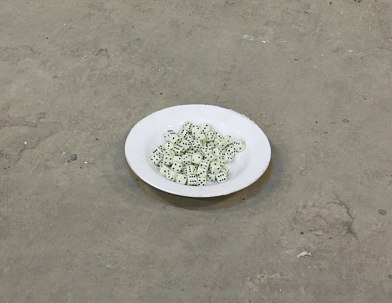 Etti Abergel, Untitled, 2011, plate and dice