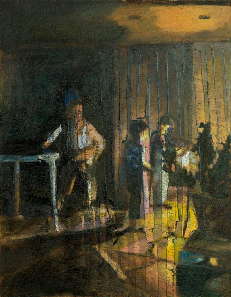 Vered Nachmani, Fireworks 1, 2013, oil on wood, 43.5 x 33.5 cm