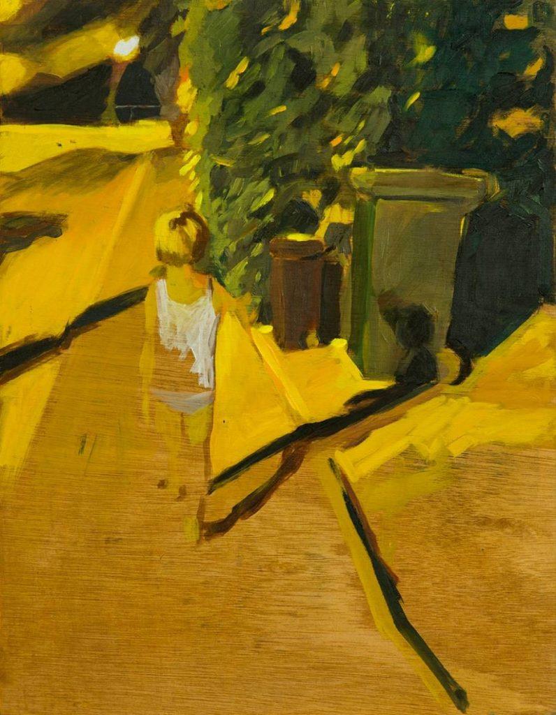 Vered Nachmani, Night Walk 6, 2013, oil on wood, 43.5 x 33.5 cm