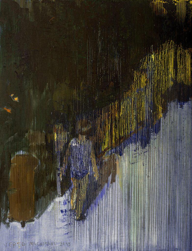 Vered Nachmani, Night Walk 9, 2013, oil on wood, 43.5 x 33.5 cm