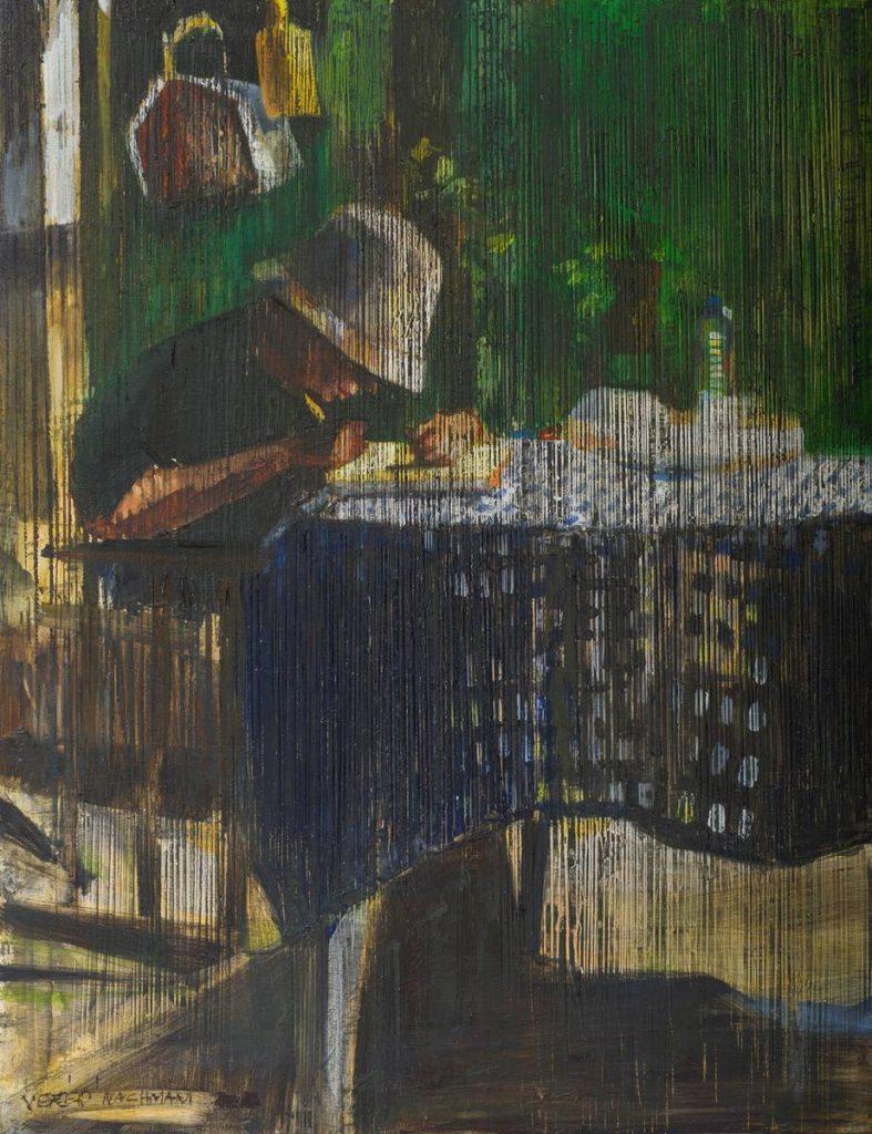Vered Nachmani, Ohad 1, 2013, oil on wood, 43.5 x 33.5 cm