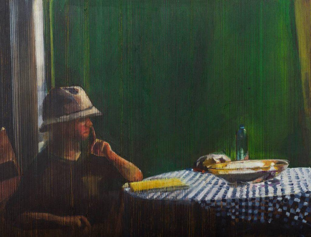 Vered Nachmani, Ohad 2, 2013, oil on wood, 33.5 x 43.5 cm