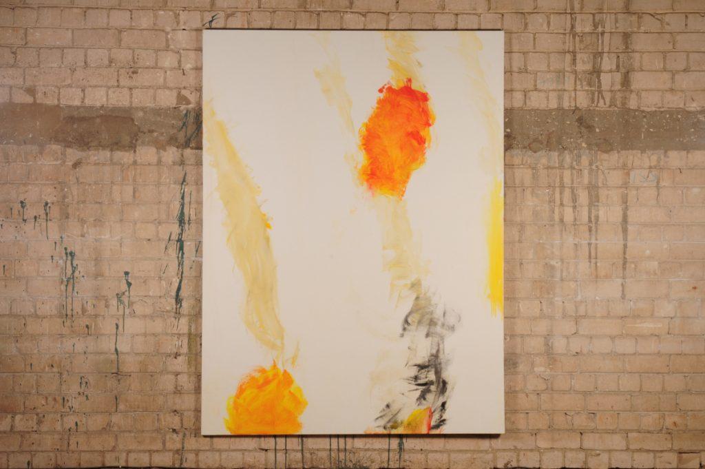 Yudith Levin, White phosphorus 4, 2010, acrylic on canvas