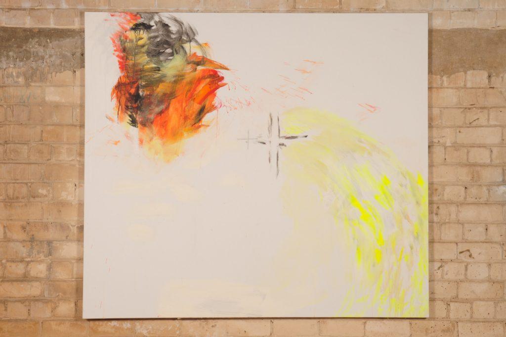 Yudith Levin, White phosphorus 8, 2010, acrylic on canvas