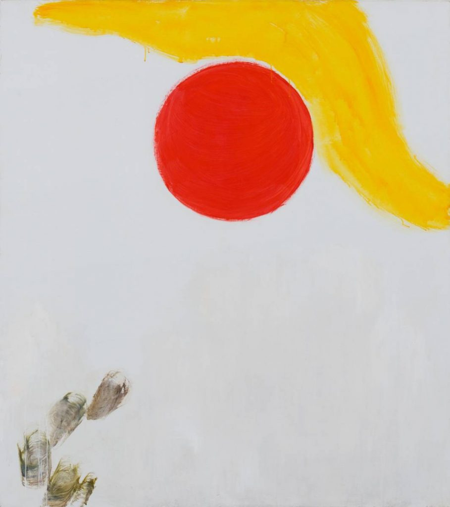 Yudith Levin, Bowing to the Sun, 2013, acrylic on canvas, 170 x 150 cm