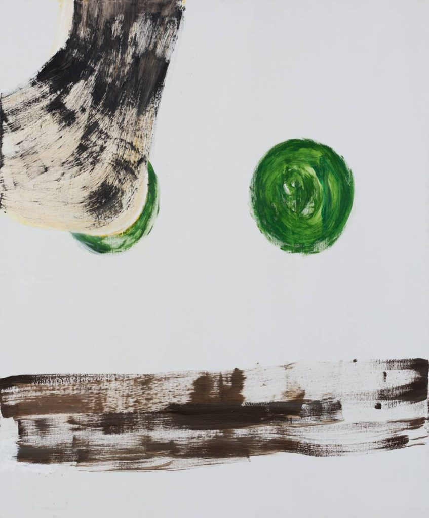 Yudith Levin, Green, 2015, acrylic on canvas, 180 x 150 cm