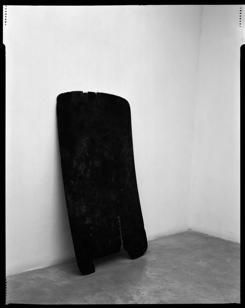 Yanai Toister, Plank Piece I-II, 2009, Two b&w photographs, 95x120 cm