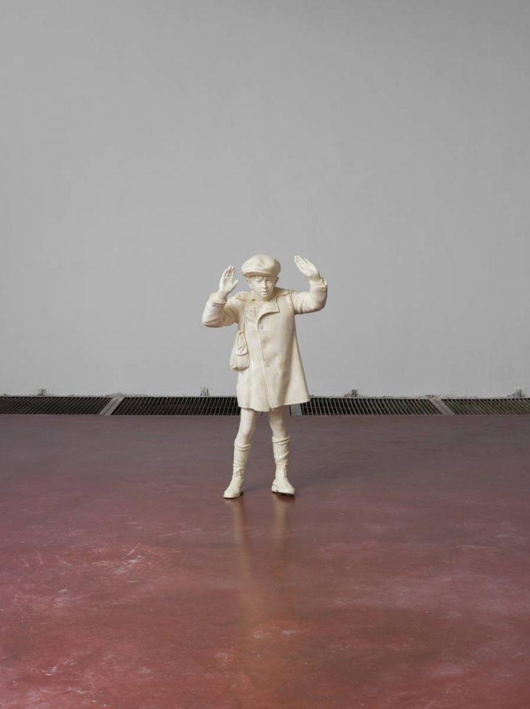 Adel Abdessemed, Mon Enfant, 2014, ivory, height 133 cm, edition of 1 + 1 AP