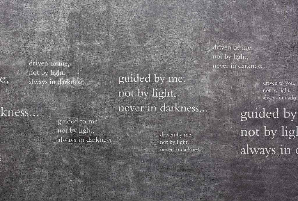 Douglas Gordon, 33 degrees of enlightenment, 2012 , text pencil, various dimensions