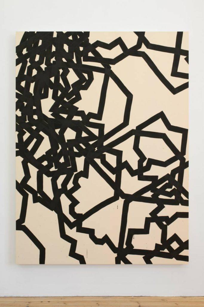 Latifa Echakhch, Dérives, 2015, acrylic paint on canvas, 200 x 150 cm, unique