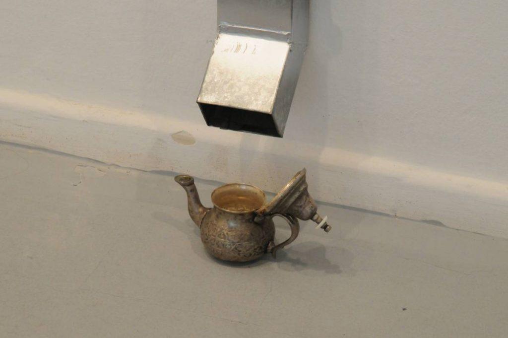 Latifa Echakhch, Saïd's Tea, 2010, gutter, antique tea-pot, unique (detail)