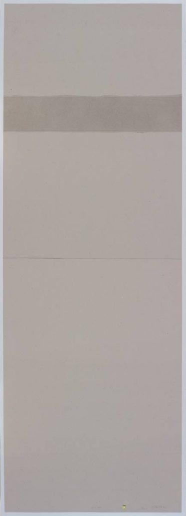 Miroslaw Balka, 13 cm AF, 2015, pencil, myrth, frankincense on cardboard, 208 x 78 x 4 cm