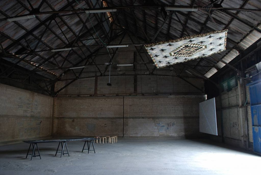 Mircea Cantor, Shooting, 2010, Exhibition View, Dvir Gallery Hangar, Tel Aviv