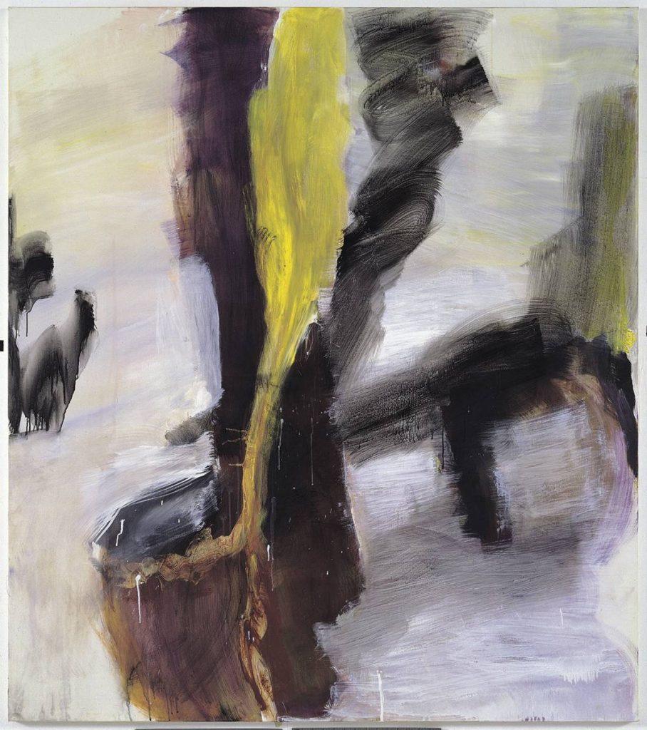 Yudith Levin, Dog fires cat, 2003, acrylic on canvas, 170 x 150 cm