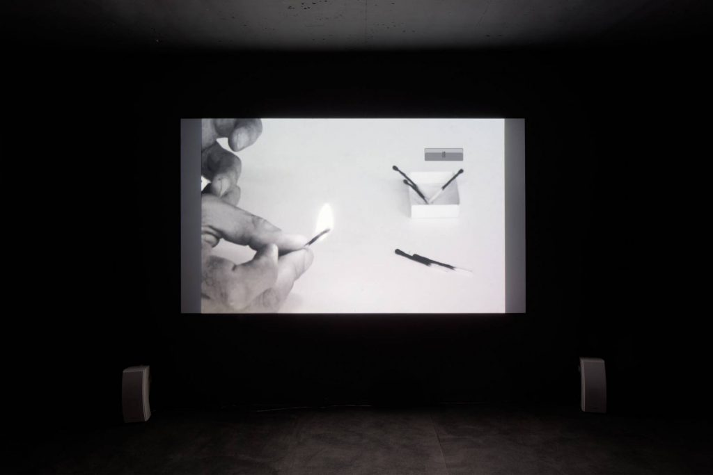 Ariel Schlesinger, Burnt Matches Matches, 2011, 120 sec video loop, edition of 3