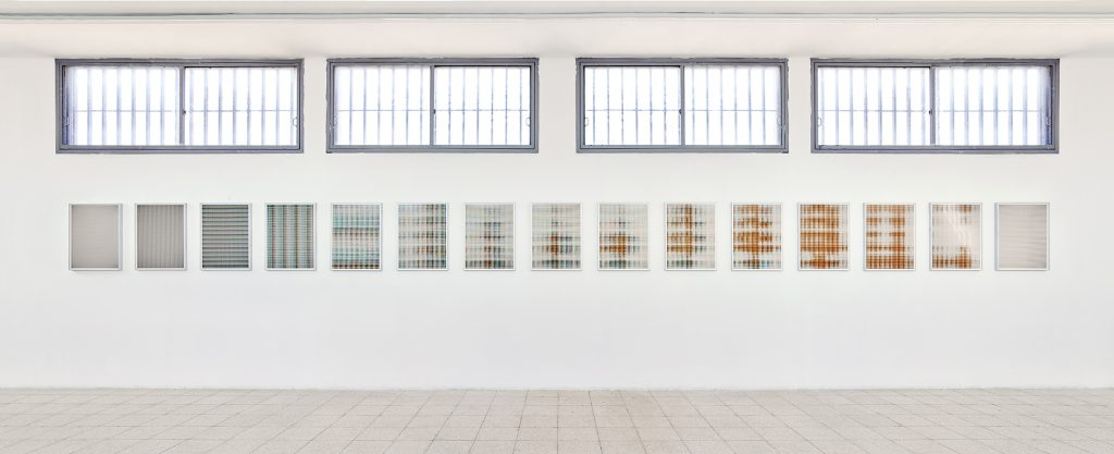 Matan Mittwoch, New Works, 2016, Exhibition view, Step-13 [I-XV], 2016, inkjet-print on baryte paper, 67.2 x 51.2 cm each, edition of 3 + 2 AP