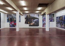 exhibition view, 'New Pixel-Collage', 2016, Dvir Gallery, Tel Aviv
