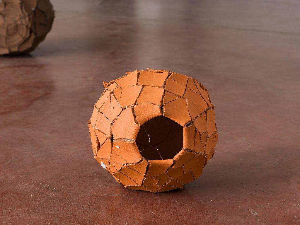 Ariel Schlesinger, Untitled (Inside Out Urn), 2013, earthenware terra-cotta, 23 x 24 x 19 cm, unique