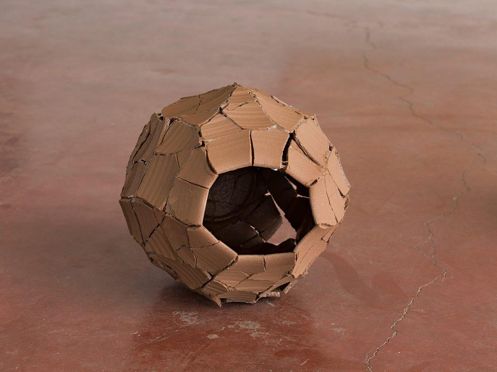 Ariel Schlesinger, Untitled (Inside Out Urn), 2013, earthenware terra-cotta, 32 x 38 x 33 cm, unique