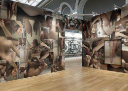 'Reflux', 2016, site-specific installation, 170g matte Fine Art wallpaper, variable dimensions, unique, exhibition view, Paris Photo 2016