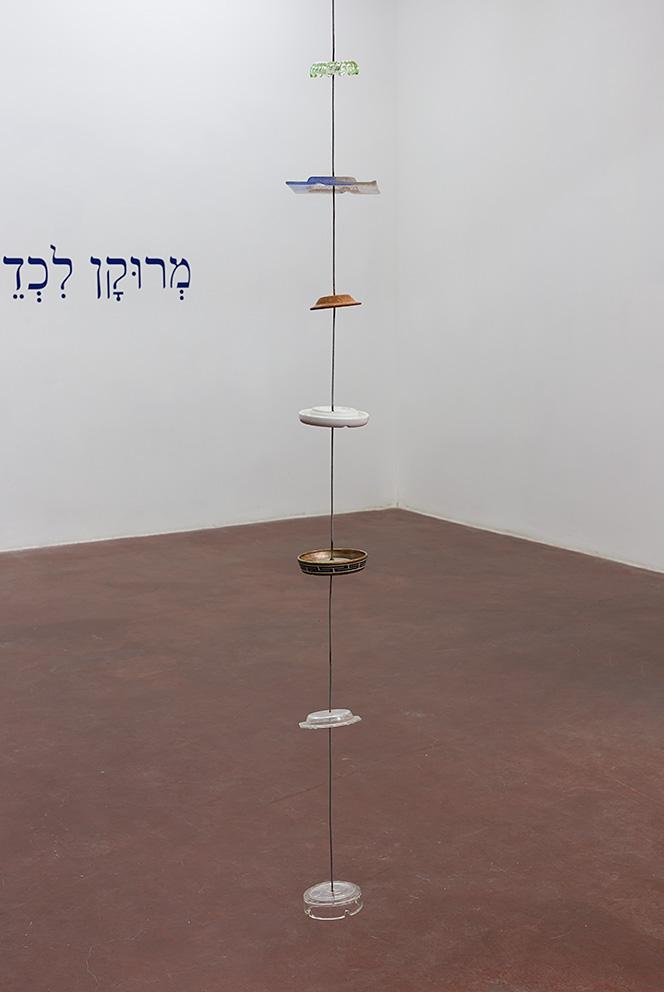 Miroslaw Balka, 345x21x21, 2010, steel, ceramic, glass, revolving machine, 345 x 21 x 21 cm, unique