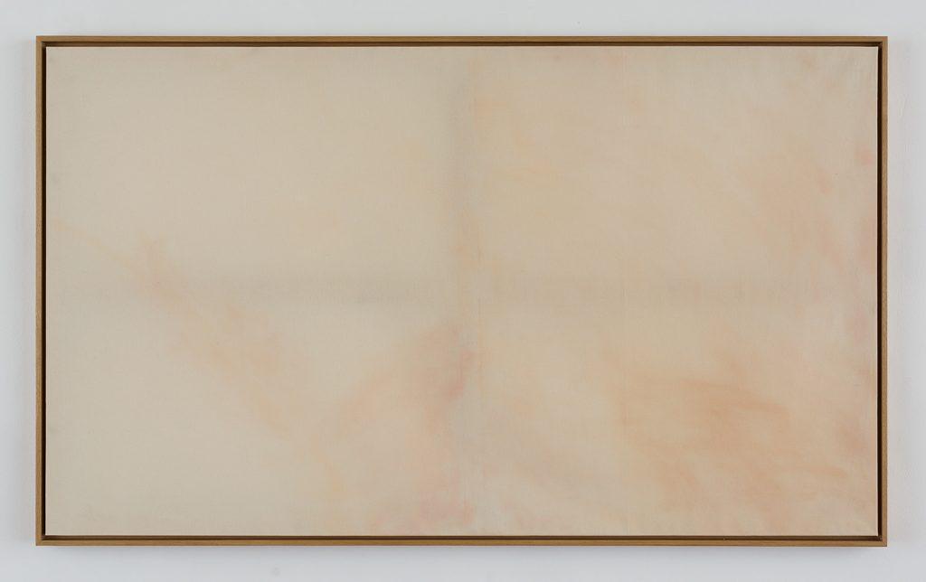 Simon Fujiwara, Merkel, 2015, make-up, linen, wood, 120 x 200 x 5 cm, unique